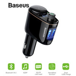 Review Baseus Car MP3 Audio Player Bluetooth Car Kit FM Transmitter Handsfree Calling 5V 3.4A Dual USB Car Charger