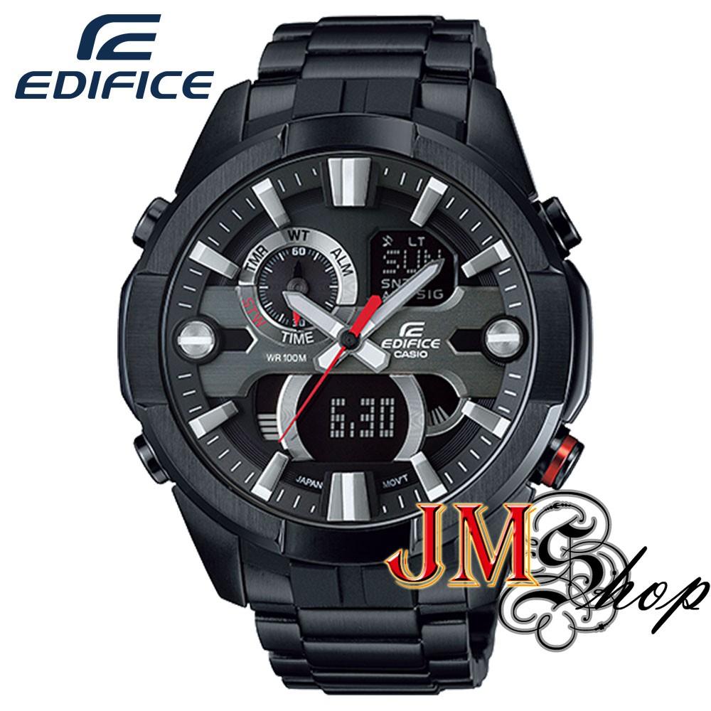 Casio Edifice นาฬิกาข้อมือผู้ชาย สายสแตนเลส รุ่น ERA-201BK-1AVDF - สีดำ