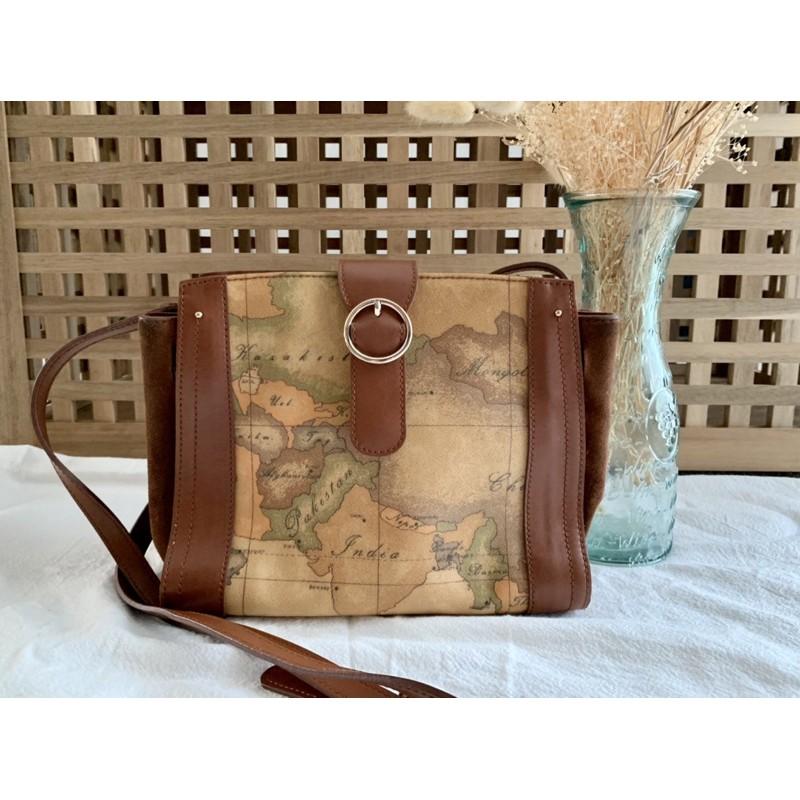 กระเป๋าสะพายข้าง ลายแผนที่ ALVIERO MARTINI (มือสอง)
