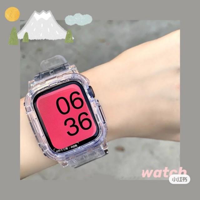 เคส applewatch สาย สำหรับ applewatch SE 6 5 4 3 38 มิลลิเมตร 42 มิลลิเมตร 2in1 เคส+สาย