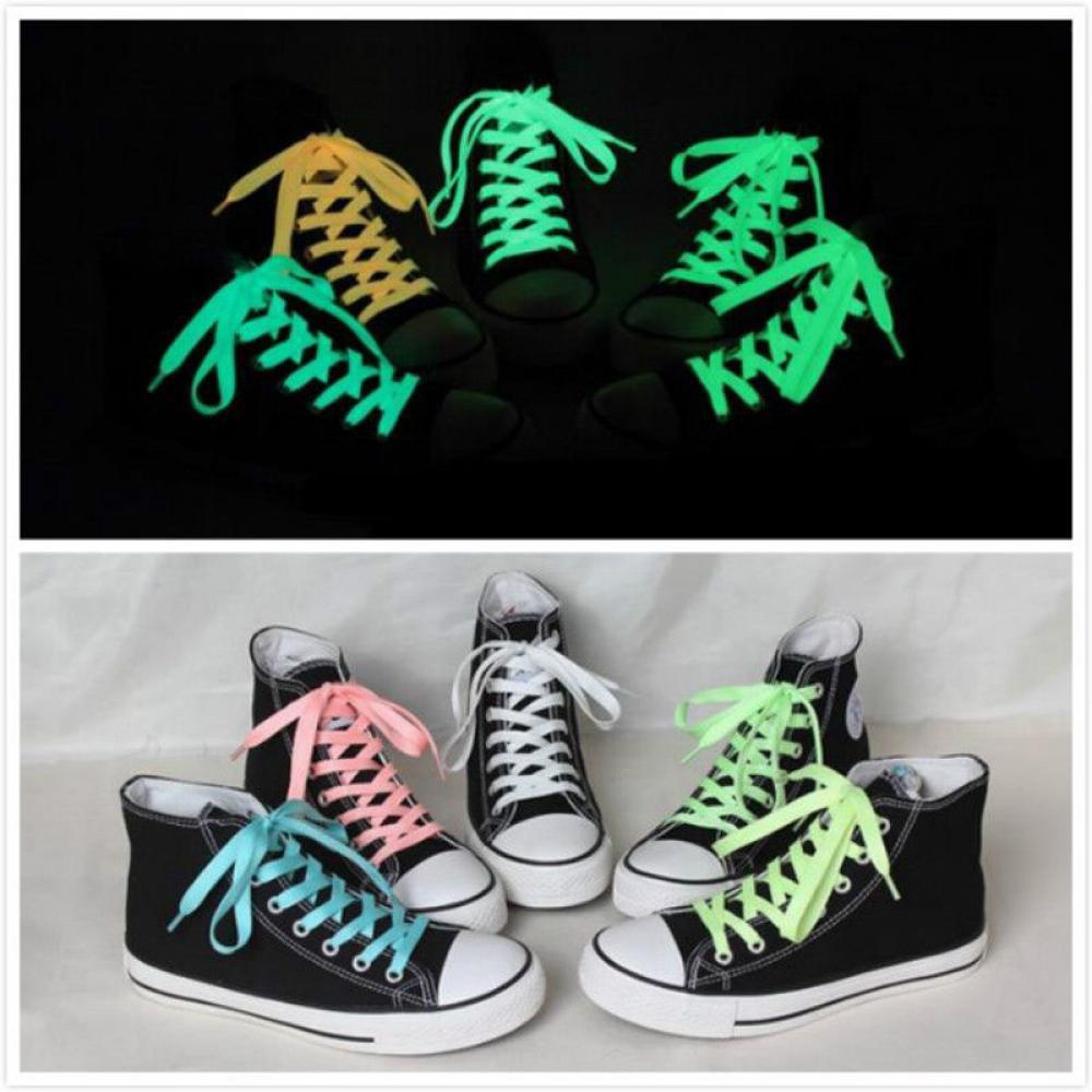 เชือกรองเท้าผ้าใบ รองเท้าบูท แบบเรืองแสง แฟชั่น สำหรับผู้หญิง