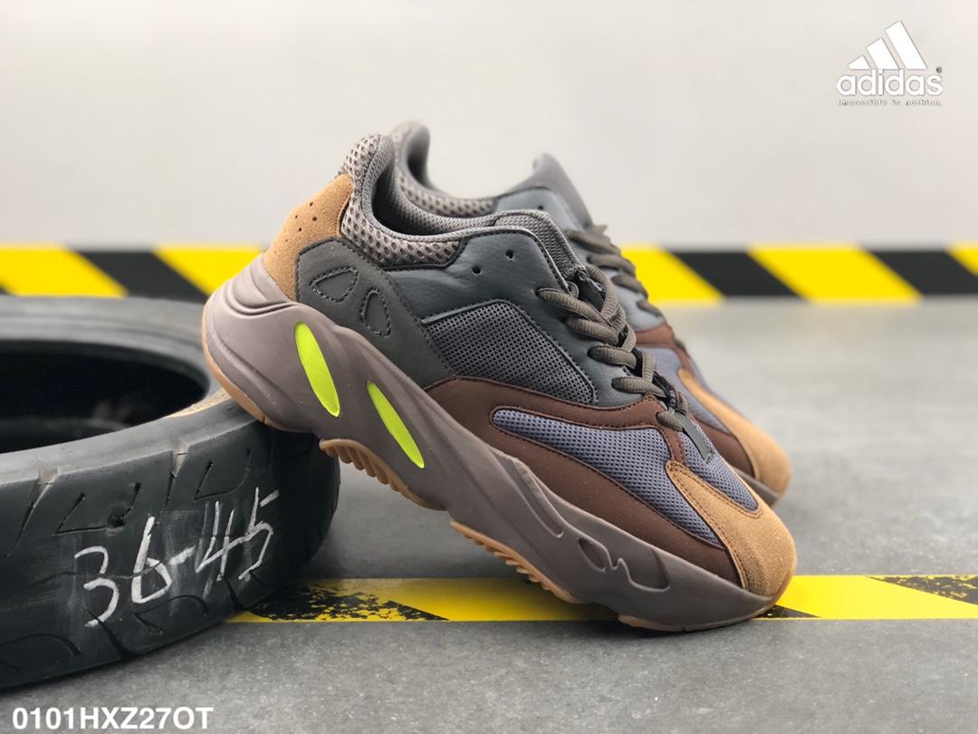 """อาดิดาส Adidas_ Yeezy 700 """"Static"""" Kanye casual shoes gray รองเท้า วิ่ง ของ แท้ รองเท้ากลางแจ้งอย่างดี"""