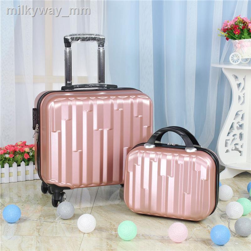 ♙◎◘กระเป๋าเดินทางหญิง 18 นิ้วหมุนมินิกระเป๋าเดินทาง 14 นิ้วรถเข็นกระเป๋าเดินทาง 20 นิ้ว Business men's suitcase