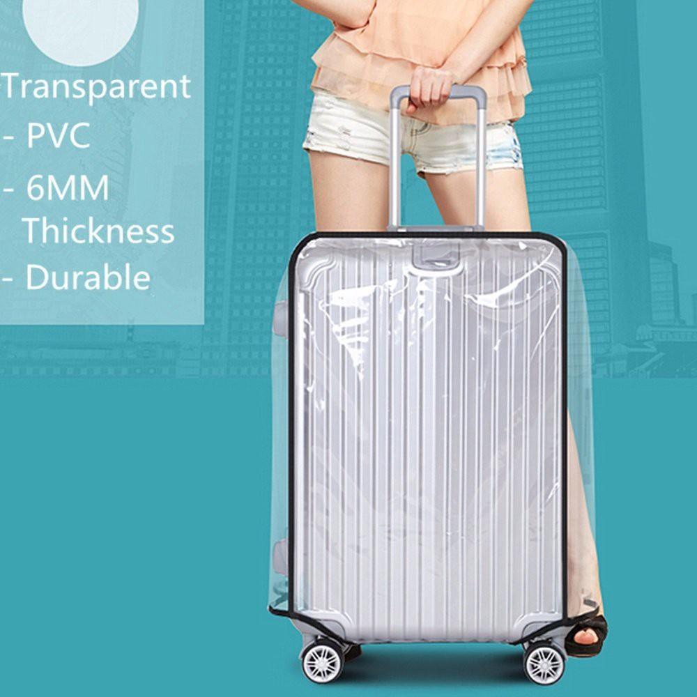 Korean KD770 PVCคลุมกระเป๋าเดินทาง แบบใสกันน้ำกันรอยได้อย่างดี พร้อมส่ง (มี3ขนาด 20นิ้ว / 24นิ้ว / 28นิ้ว) สินค้าพรอมส่ง