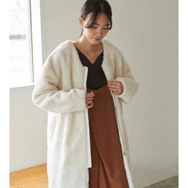 Sheep Fur Coat สีขา