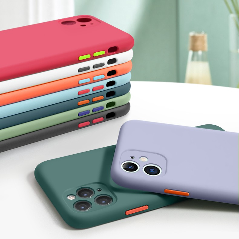 Original Liquid Camera Protection Silicone Case Apple iPhone 11 Back Cover Shockproof