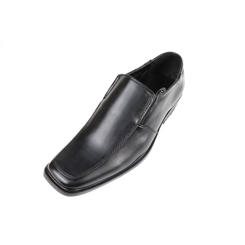 รองเท้าคัชชูผู้ชาย รองเท้าหนังผู้ชาย Heavy shoe รองเท้าทางการในเครือแบบสวม แบรนด์ charled รุ่น RB8219 ดำ