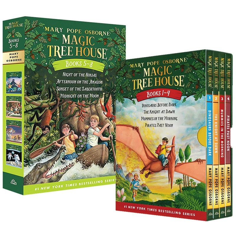 Hot Books Magic Tree House 1-8 Books กล่องหนังสือภาษาอังกฤษสําหรับเด็ก