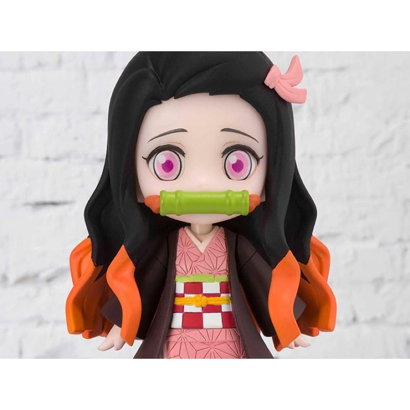 (ของแท้) Demon Slayer: Kimetsu no Yaiba Figuarts mini Kamado Nezuko Model Figure Bandai เนซึโกะ โมเดล ฟิกเกอร์ ของเล่น