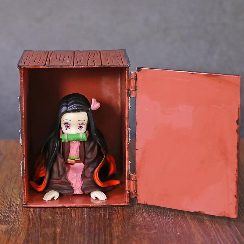 Anime Demon Slayer Kimetsu No Yaiba Kamado Nezuko Q Version Mini PVC Figure Figurals Model Toy