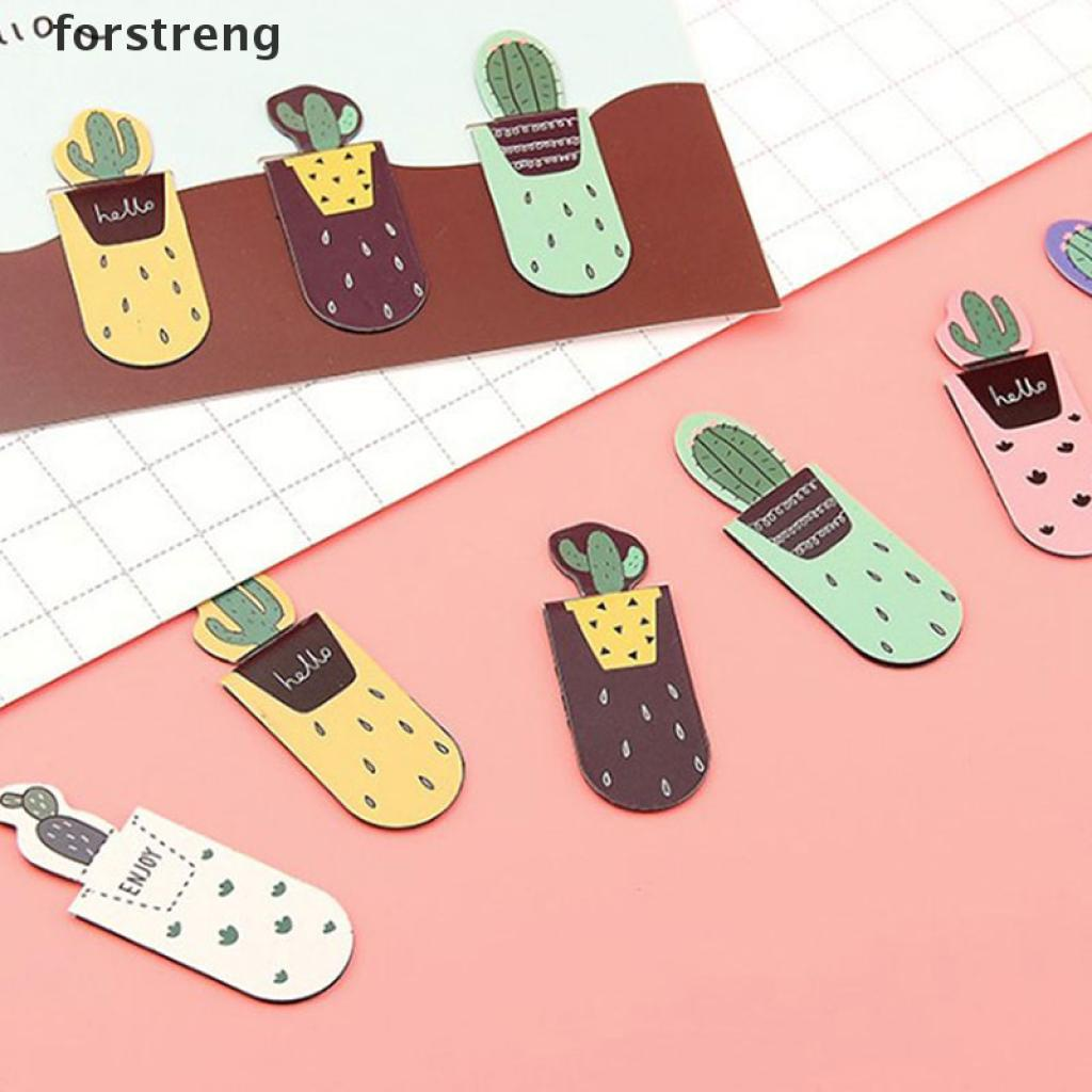 (for) 1set/3pcs Fresh Cactus Books Marker of Page Stationery School Office Supply forstreng