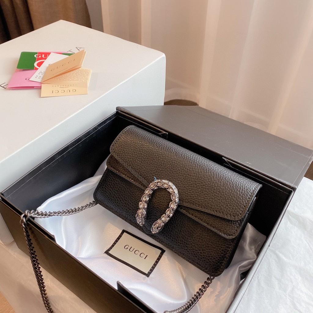 ระยะเวลาจำกัดOriginal Gucci Mini Dionysus Chain Bag Shoulder Bag For Women Bags