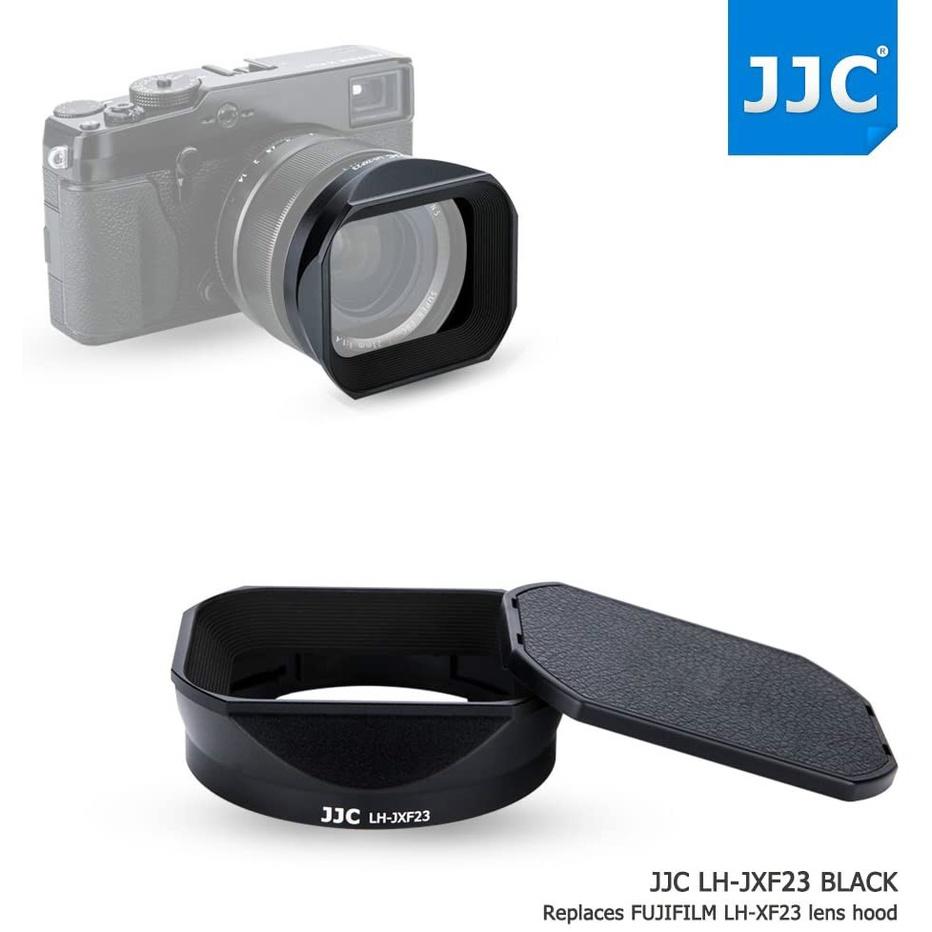 ฝาปิดเลนส์โลหะสแควร์พร้อมฝาปิดฝาครอบเปลี่ยน Fuji LH-XF23 สำหรับ Fujifilm Fujinon XF 23mm F1.4 R & XF 56mm F1.2 R (APD) เลนส์บนกล้อง X-T4 X-T3 X-T2 X-T1 X-Pro3 X-Pro2 X-Pro1 X-H1 X-T30 X-T20 X-T10 X-E3