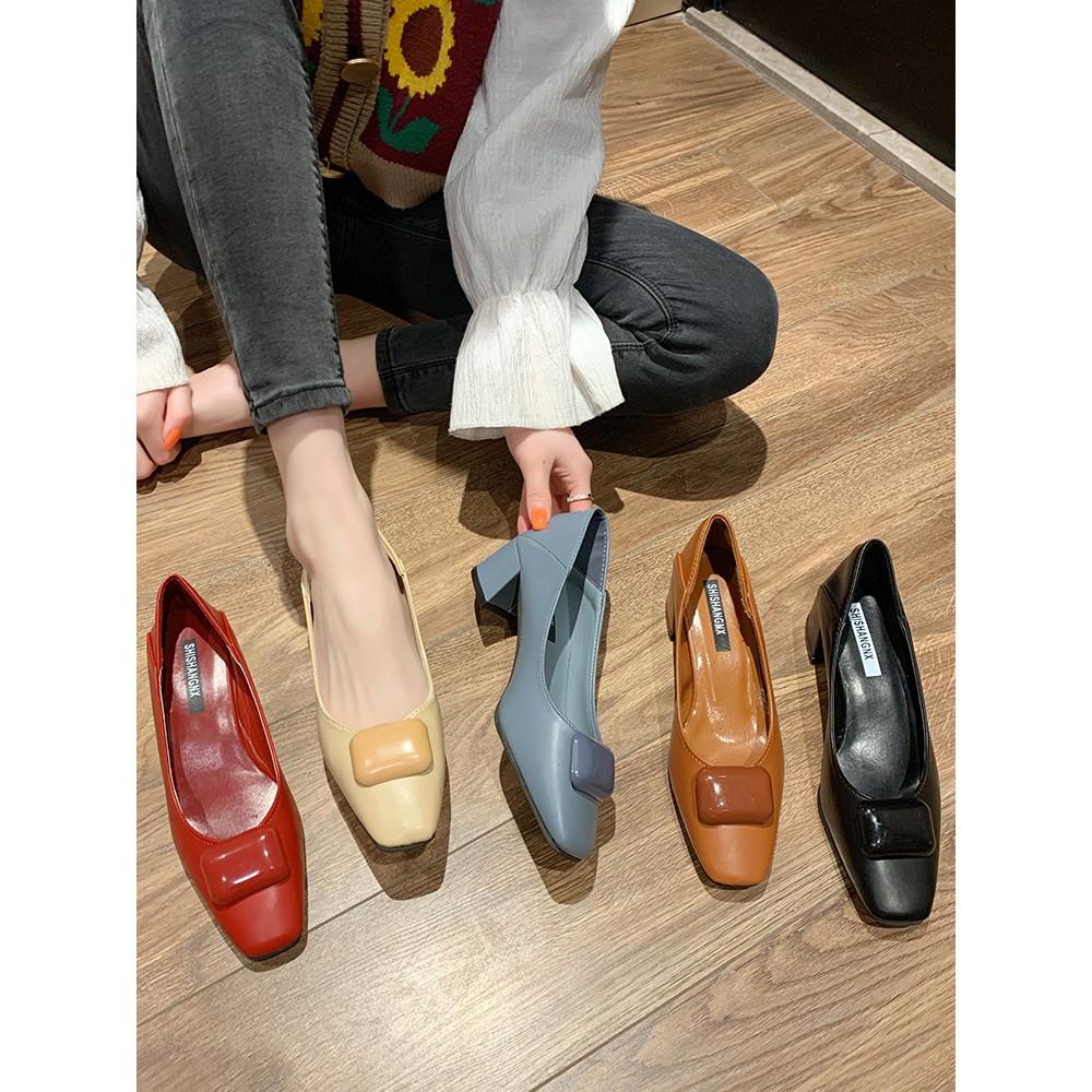 รองเท้า รองเท้าส้นสูง💖รองเท้าส้นสูงแฟชั่น💖ส้นเข็ม 💖  รองเท้ากริช รองเท้าคัทชูผู้หญิง รองเท้า แฟชั่น รองเท้าคัชชู หัวแ