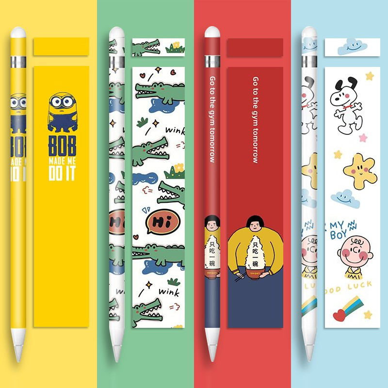 ﹢チ[Spot] Apple pen apple pencil sticker creative generation pen sticker second generation ฟิล์มกันลื่น ipadpencil stylus