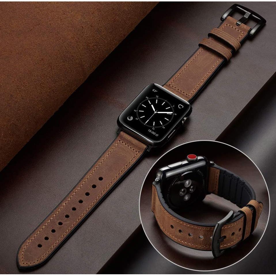 สาย applewatch สายนาฬิกา applewatch สายนาฬิกา Apple Watch Leather สายนาฬิกาข้อมือซิลิโคน for Iwatch สาย Apple watch Seri