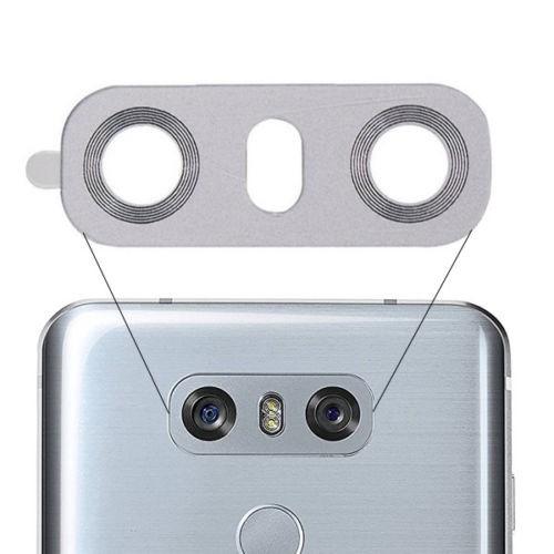 สำหรับ LG G6 H870 ฝาปิดเลนส์กล้องด้านหลังฝาหลังขาว H870DS H871 H872 H873