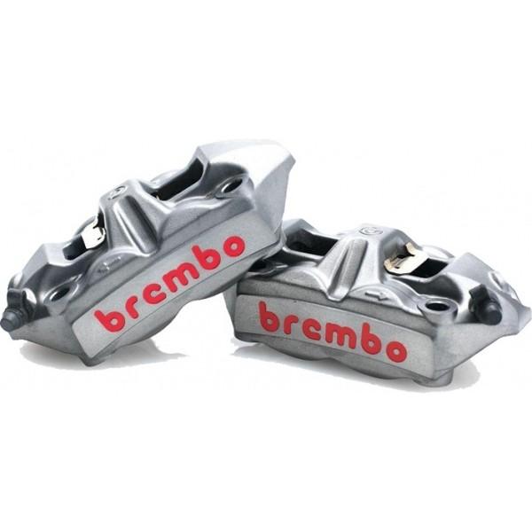 ปั้มเบรคล่าง Brembo M4 100m.หน้า ซ้าย+ขวาา (โลโก้แดงใหญ่)