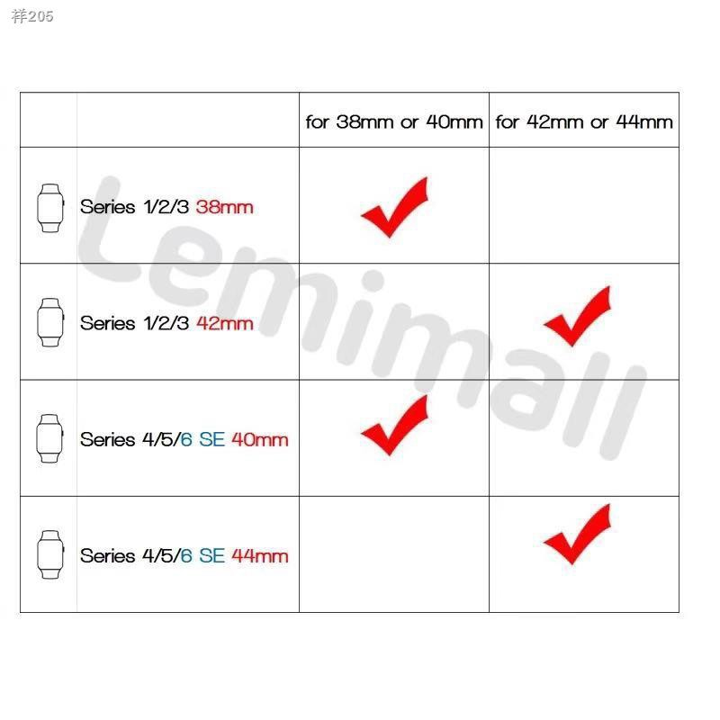 ♈◐สายสำหรับ Applewatch สายนาฬิกา สายหนัง สายนาฬิกา 38mm 40mm 42mm 44mm series 1/2/3/4/5/6 SE