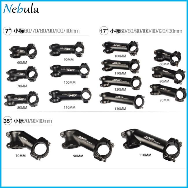 31.8*70//90//110mm MTB Road Alloy Bike Stem 35° Ultralight Bicycle Handlebar Stems