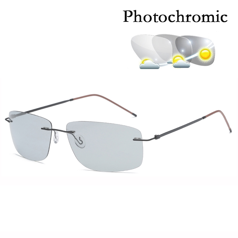 Men's Polarized Square Sunglasses Photochromic Glasses Driving Fashion Sunglasses