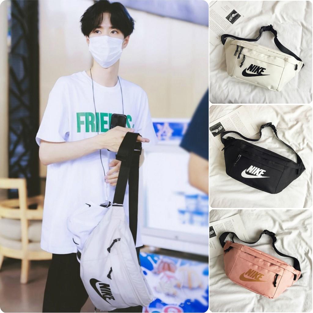 Nike Wang Yibo กระเป๋าคาดเอวเดียวกันกระเป๋าสะพายข้าง กระเป๋าสะพายผู้ชายกีฬาวิ่งกระเป๋าลำลองกระเป๋าสะพายกระเป๋าเป้ผู้หญิ