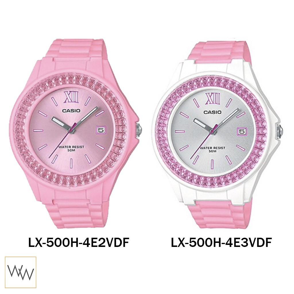 applewatch series 6◇♦☏[ใส่โค้ดลดเพิ่ม 40.-*] ของแท้ นาฬิกาข้อมือ Casio รุ่น LX-500H-4 Pink Tone