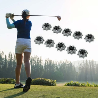 20Pcs Golf Shoes Soft Spikes 1/4 Circle Quick Screw Spike Replacement Set Golf Training Equipment