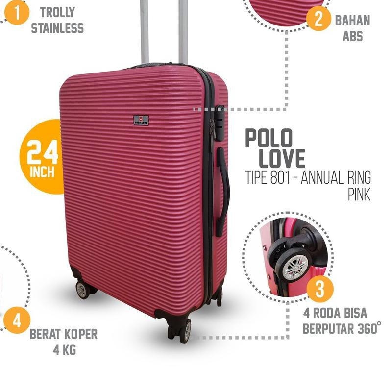 กระเป๋าเดินทางล้อลาก 360 องศาขนาด 010 24 นิ้ว Abs