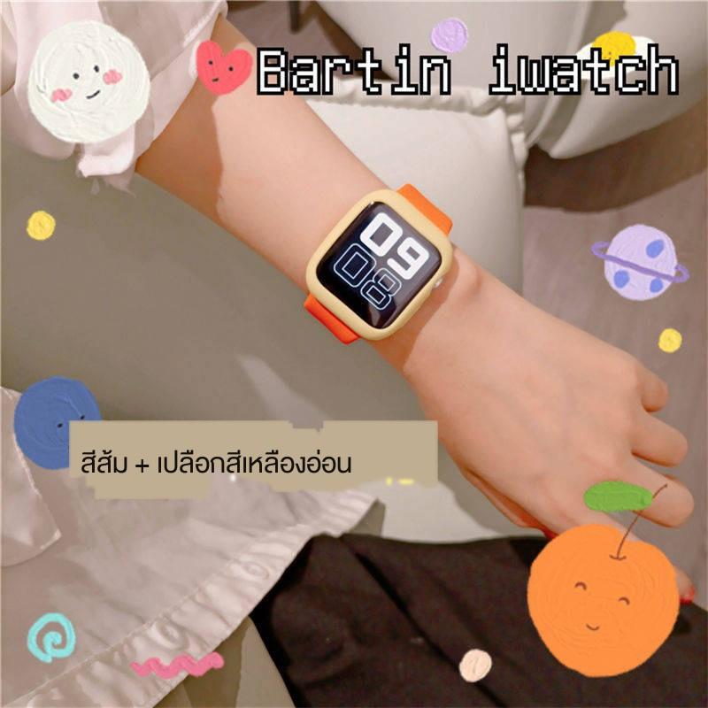 🔥พร้อมส่ง🔥สาย applewatch พร้อมส่ง ☚สาย Applewatch3 ทุกแบบที่เข้ากันได้กับ iwatch1-6 รุ่น se ความคมชัดสากลสีซิลิโคนสายน