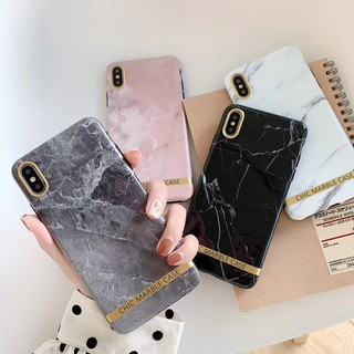 Review เคสไอโฟน iPhone X XR XS Max 7 8 Plus 6 6S Plus Creative Chic Marble Case Soft Case