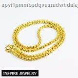 🔥มีของพร้อมส่ง🔥ลดราคา🔥☽Inspire Jewelry สร้อยคอทองลายบล็อคเหลี่ยมตอทำแบบร้านทองน้ำหนัก 2 บาทงานทองไมครอนชุบทองคำแท้ยา