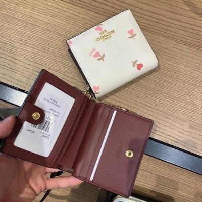 ۵メคุณผู้หญิงLei Ge American Direct Mail Coach/Coach กระเป๋าสตางค์ใบสั้นผู้หญิงรุ่นใหม่ที่ใส่บัตร