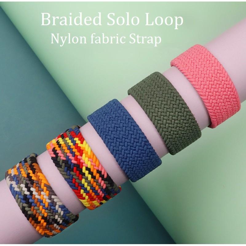 สาย Applewatch Nylon Braided Solo Loop Strap สายนาฬิกา Applewatch Elastic Fabric Bracelet iWatch Series 6/5/4/3/2, Apple