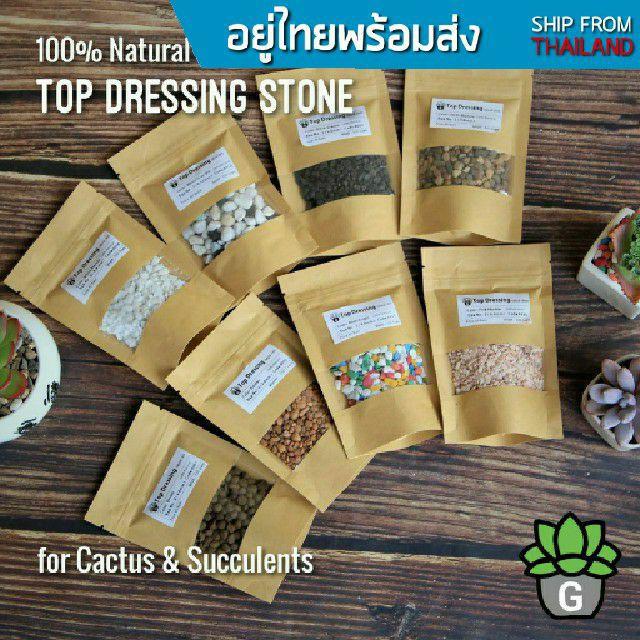 ✲Top Dressing หินโรย 1 ถุง 100 กรัม G Succulents กุหลาบหินนำเข้า ไม้อวบน้ำ♛