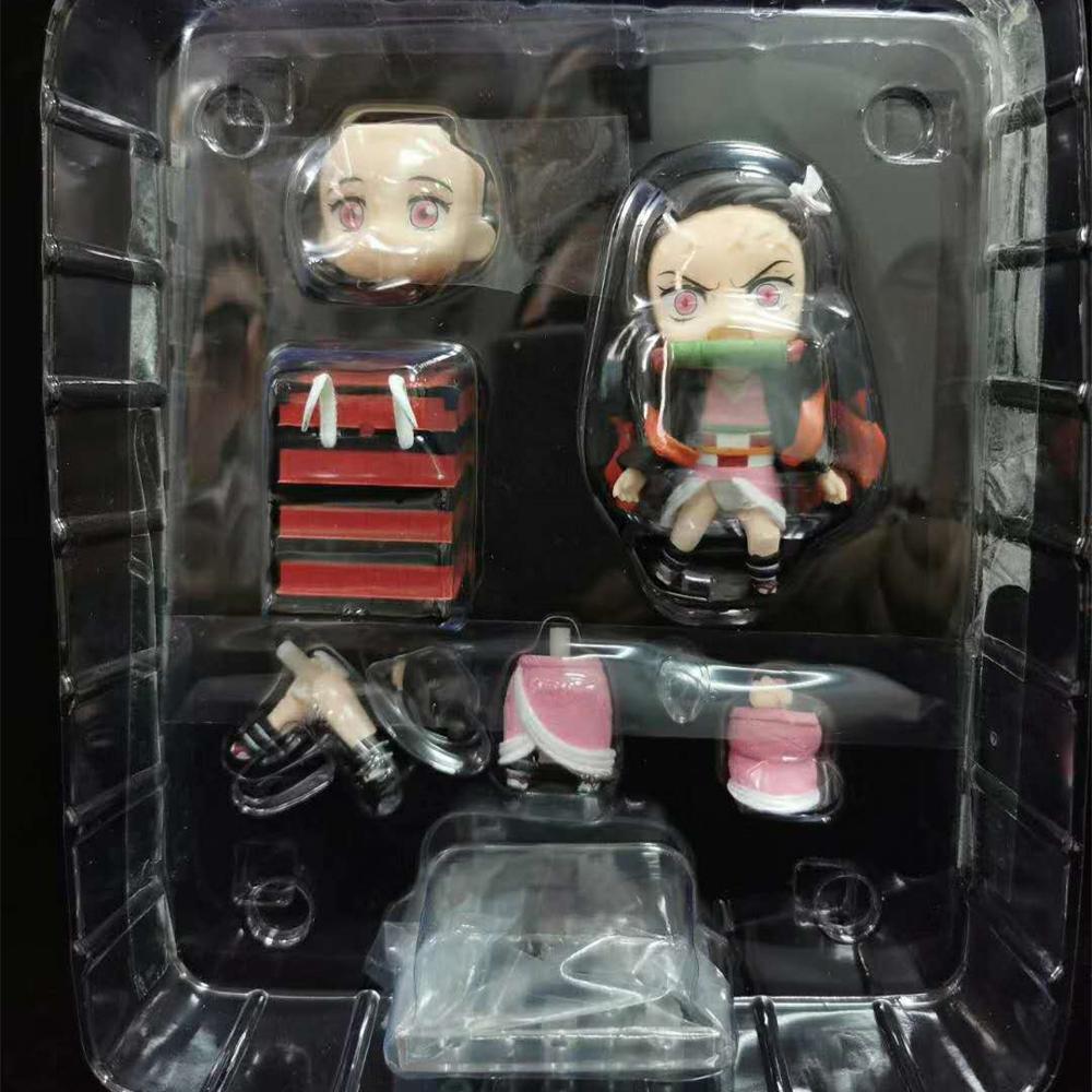 Please COD Kimetsu no Yaiba Nezuko Action Figure 1194 Model Toy Anime Demon Slayer Nezuko Figurine Cute Toys 100mm  new