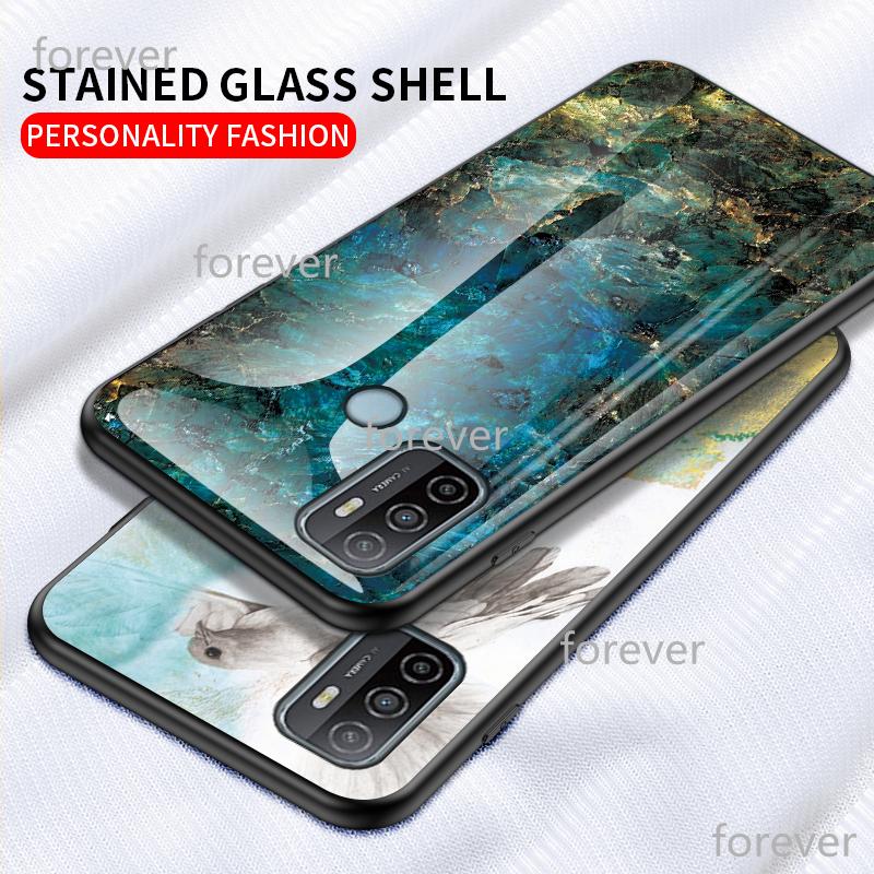 ( Free Gift ) เคสโทรศัพท์มือถือกระจกนิรภัยสําหรับ Samsung A8Star A9Star Case Galaxy A9S A8S A6S A9 Pro