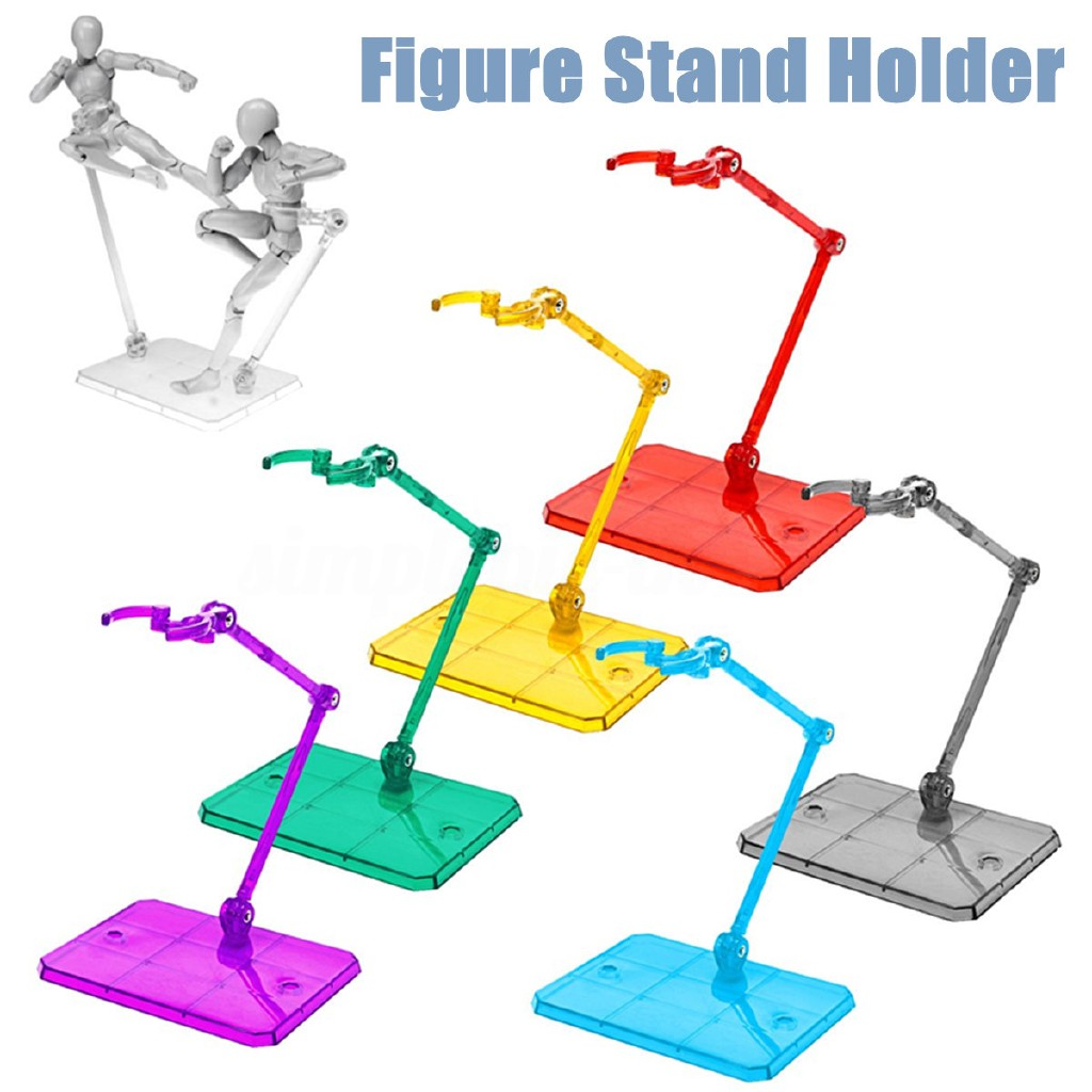 Clear Action Figure Holder Display Stand Base For HG RG SD SHF Gundam Model Toys