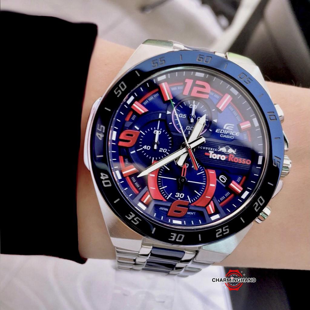 นาฬิกาข้อมือผู้ชายแท้ Casio Edifice Limited คาสิโอลดราคา นาฬิกาสายสแตนเลส EFR-564TR-2 ย้ำขายเฉพาะนาฬิกาของแท้ มีใบประกัน