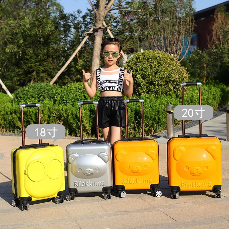 เด็กกระเป๋าเดินทางล้อเด็กลังเด็กการ์ตูนเดินทางลากกระเป๋าเดินทาง