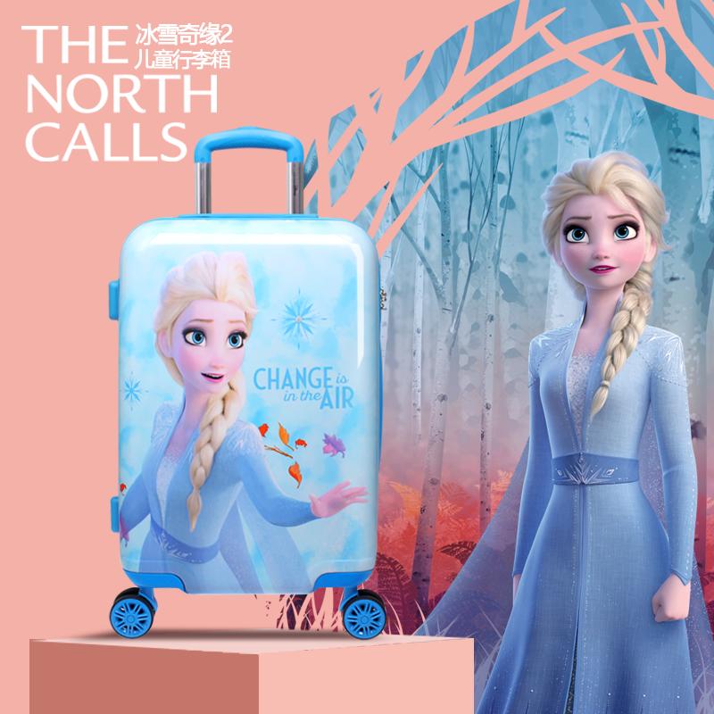 ☓∮ กระเป๋าเดินทางล้อลาก กระเป๋าเดินทางล้อลากใบเล็กกรณีรถเข็นDisney frozen 2กระเป๋าเด็กAisha Princessกระเป๋าเดินทาง18นิ้ว