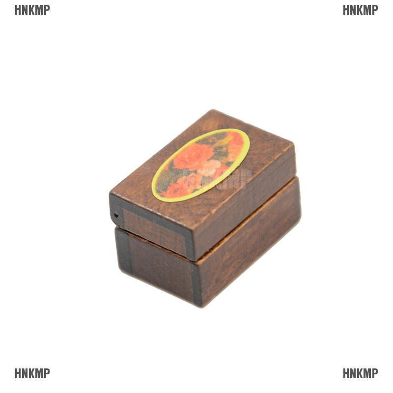 1:12 Scale Dollhouse Miniature Filled Wooden Jewelry Box Bedroom Acces THL