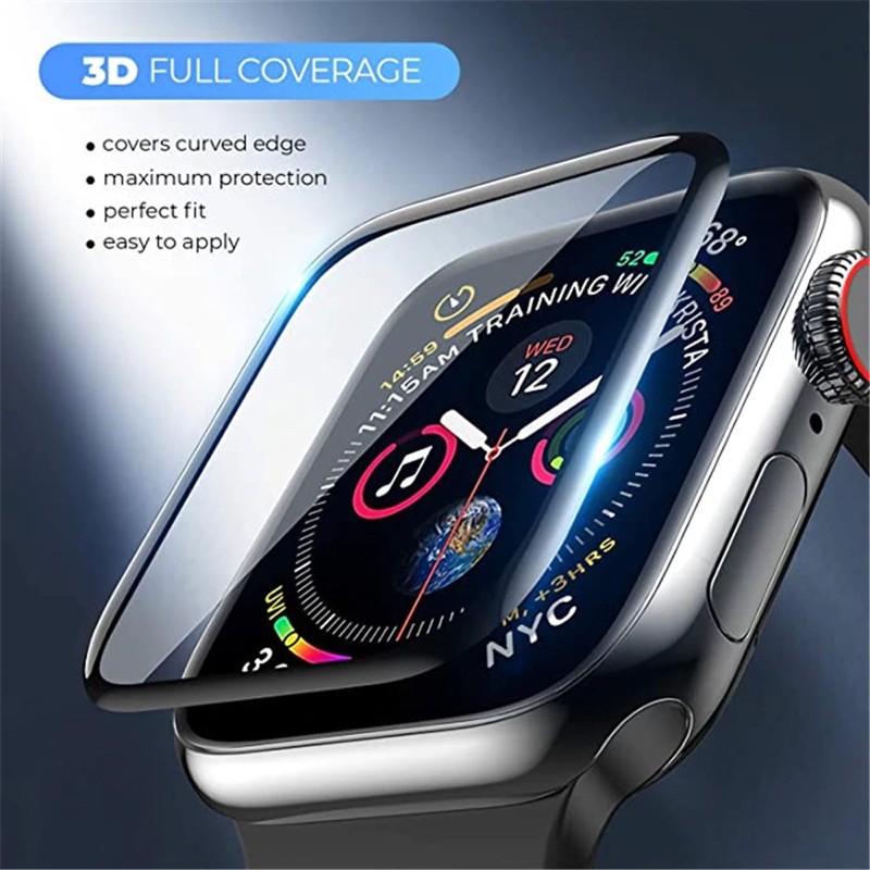 ฟิล์มกระจกนิรภัย 3D ลงโค้ง applewatch Series 6 SE /5 4 / 3 / 2 / 1 1ฟิล์มกระพลาสติก 38MM 40MM 42MM 44MM