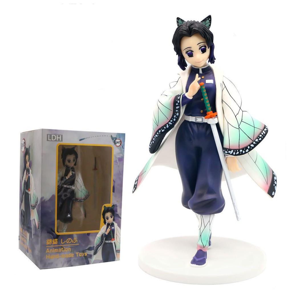 นักล่าปีศาจDevil's Blade Anime Figure Kochou Shinobu Demon Slayer Standing VC Action Figure Kimetsu No Yaiba Butterfly K