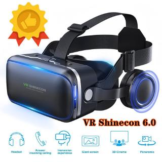 Vritual Reality VR Shinecon 6.0 Bluetooth Headset VR Glasses Helmet 3D Box For 4.5-6.0 Smartphones 7Kjq