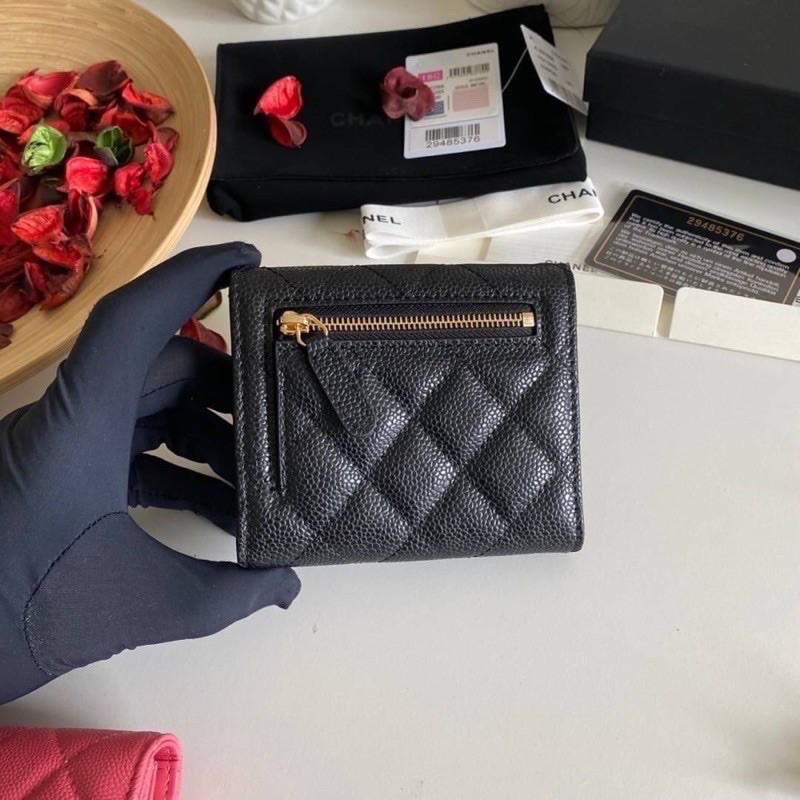 👌Chanel Classic small wallet cavier skin Original เข้าแล้วค่ะกระเป๋าสตางค์