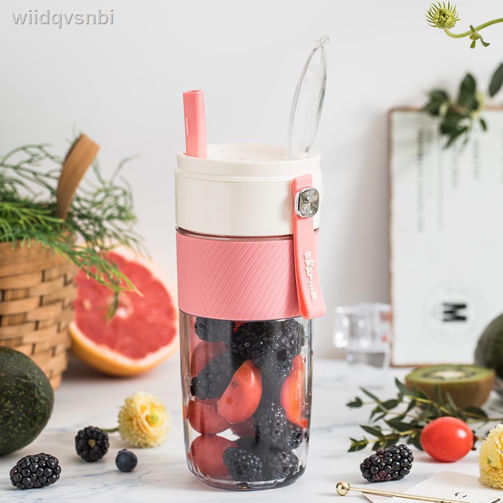 ถ้วยกาแฟ  ✻◈Bear Juice Cup ผลไม้ในครัวเรือนเครื่องคั้นน้ำผลไม้แบบพกพาขนาดเล็ก Electric Mini Frying Juicer เครื่องทำอาหา