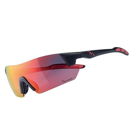 แว่นตากันแดด 720armour รุ่น Kamikaze สีกรอบ Matte Black สีเลนส์ Smoke Full Red Ti