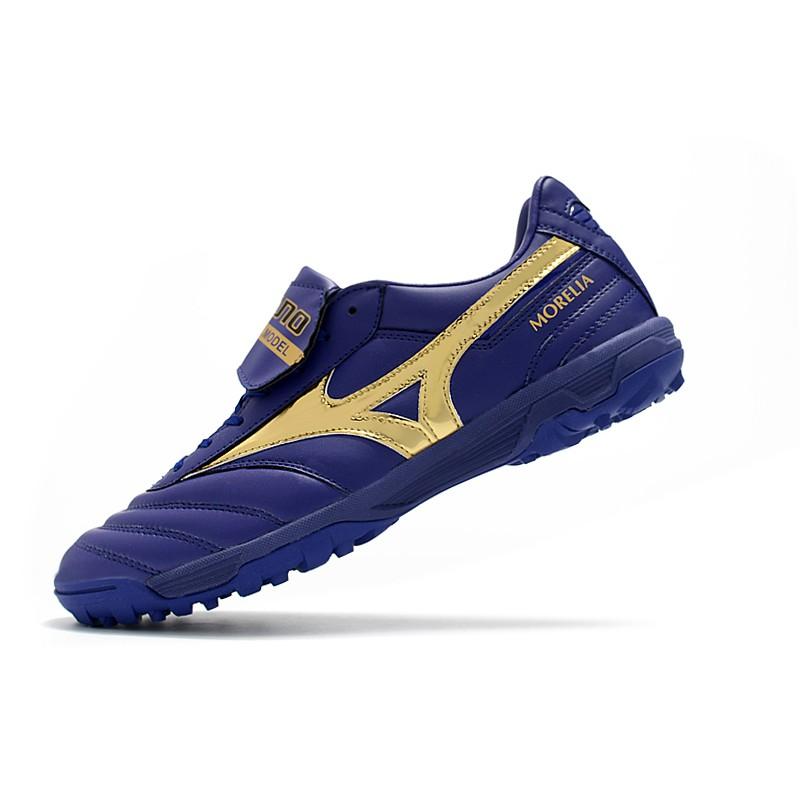 ใหม่♋Mizuno ผิวหนังจิงโจ้ MORELIA  II PRO  TF/ASเล็บสั้นรองเท้าฟุตบอล
