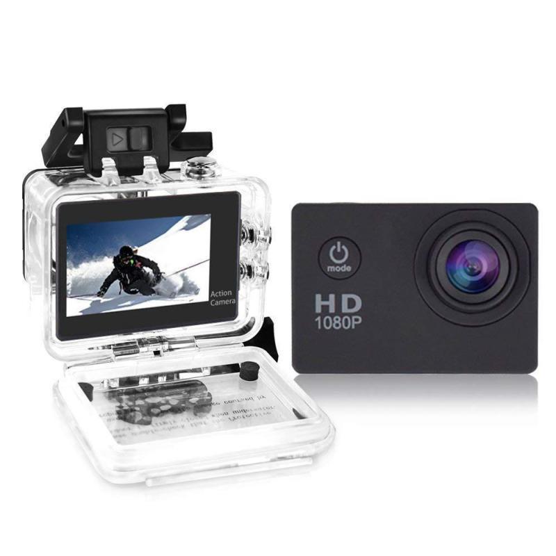 กล้องกันน้ำ Gopro กล้องติดหมวกกันน็อค กล้องติดหมวก Sport Camera Full HD 1080p จอ2.0นิ้ว W7 No Wifi